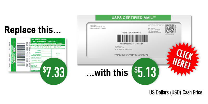 New Certified Mail Rates