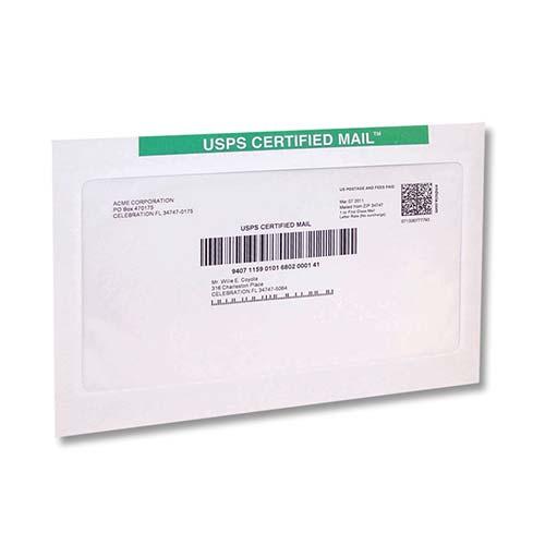 10 X 13 Certified Mail Flat